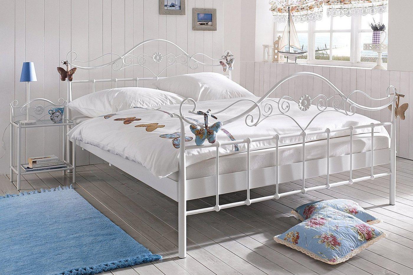 heine home Metall-Nachttisch im romantischen Stil | Schlafzimmer > Nachttische | Weiß | heine home