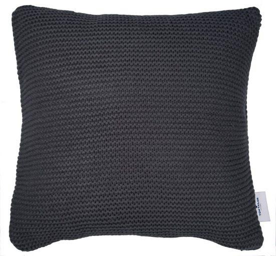 Kissenhülle »Plain Knit«, TOM TAILOR, mit Strickoptik