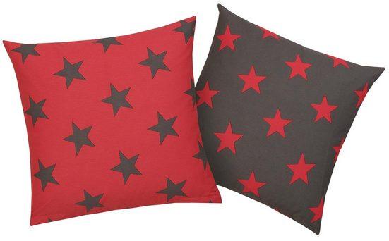 Kissenhüllen »Stella«, my home (2 Stück), mit Sternen-Muster (2 Stück)