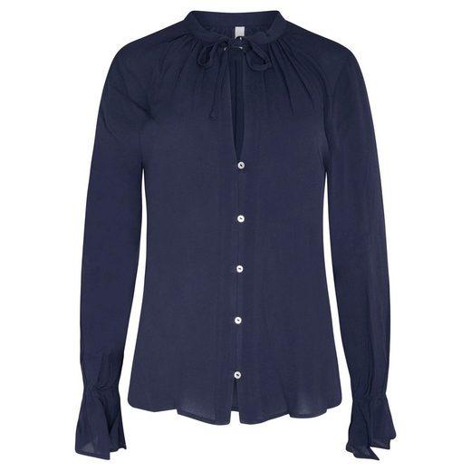 Pepe Jeans Hemdbluse »MARGA« mit Volantärmeln & tiefem V-Ausschnitt