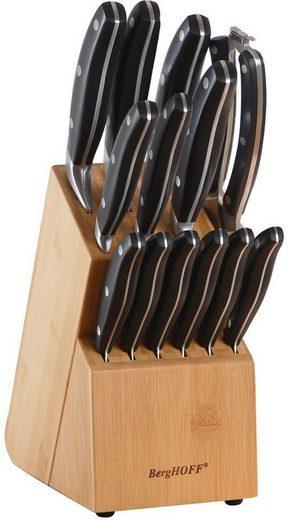 BergHOFF Messerblock (15tlg), mit integriertem Messerschärfer