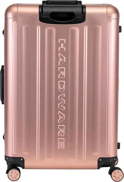 Hardware Hartschalen-Trolley »PROFILE PLUS ALU L, rosegold«, 4 Rollen