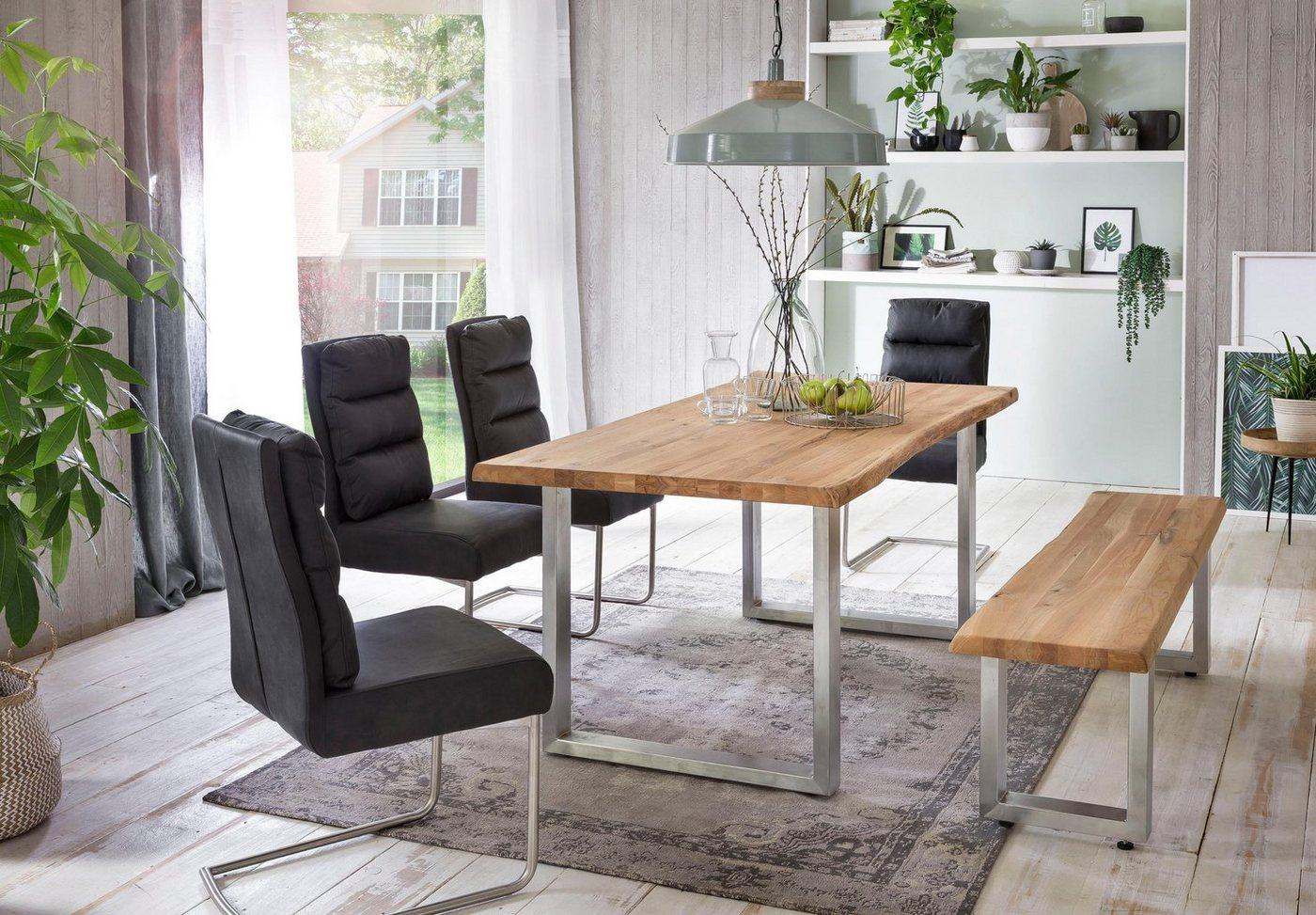 Tische - Home affaire Esstisch »Tristan«, mit Baumkante  - Onlineshop OTTO