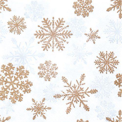 Serviette 'Schnee Kristalle'