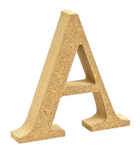 """VBS Buchstaben """"MDF"""" 8 cm x 1,5 cm"""