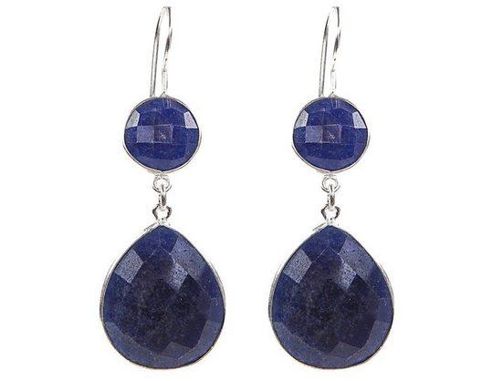 Gemshine Paar Ohrhänger »Saphir Midnight Blau Tropfen« Made in Spain