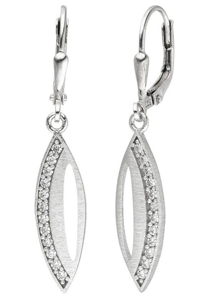 jobo -  Paar Ohrhänger 925 Silber mit 24 Zirkonia