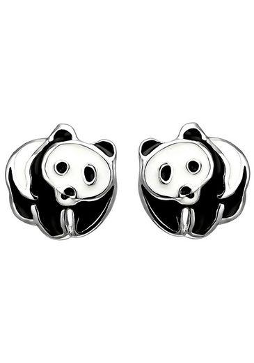 JOBO Paar Ohrstecker »Panda«, 925 Silber