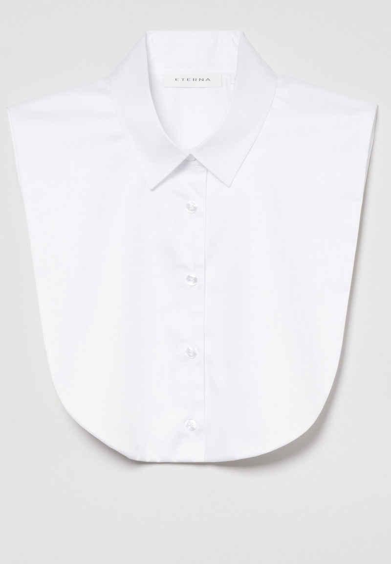 Eterna Satinbluse »MODERN CLASSIC« ohne Arm Bluse/Einsteckkragen