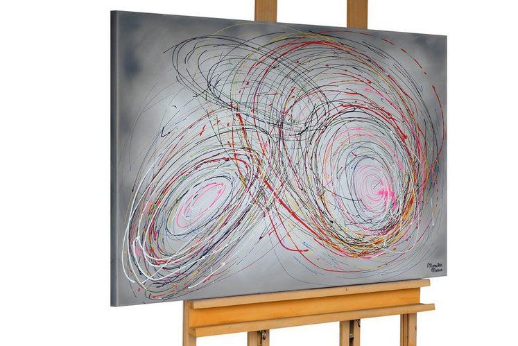 KUNSTLOFT Gemälde »How The World Turns«, handgemaltes Bild auf Leinwand