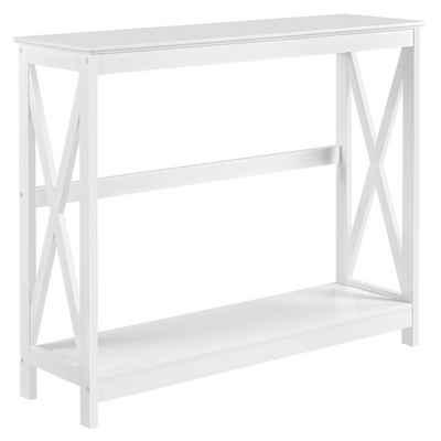 Yaheetech Konsolentisch, Flurtisch mit Ablage Beistelltisch Sideboard 101.5 x 30 x 81 cm, Weiß