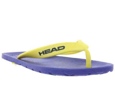 Head »HEAD Schuhe Zehentrenner bequeme Kinder Sommer-Schlappen Freizeit-Schuhe Royal Blau/Gelb« Zehentrenner
