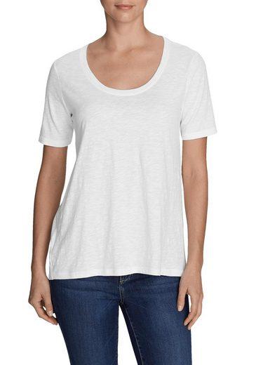 Eddie Bauer T-Shirt Legend Wash Slub - Longshirt - Kurzarm mit Rundhalsausschnitt