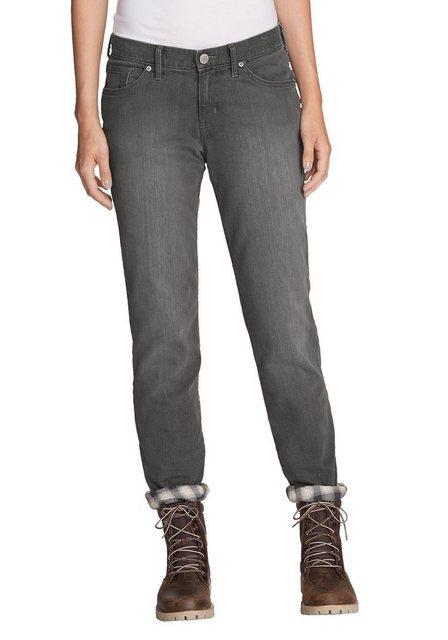 Hosen - Eddie Bauer 5 Pocket Jeans Boyfriend mit Flanellfutter › grau  - Onlineshop OTTO