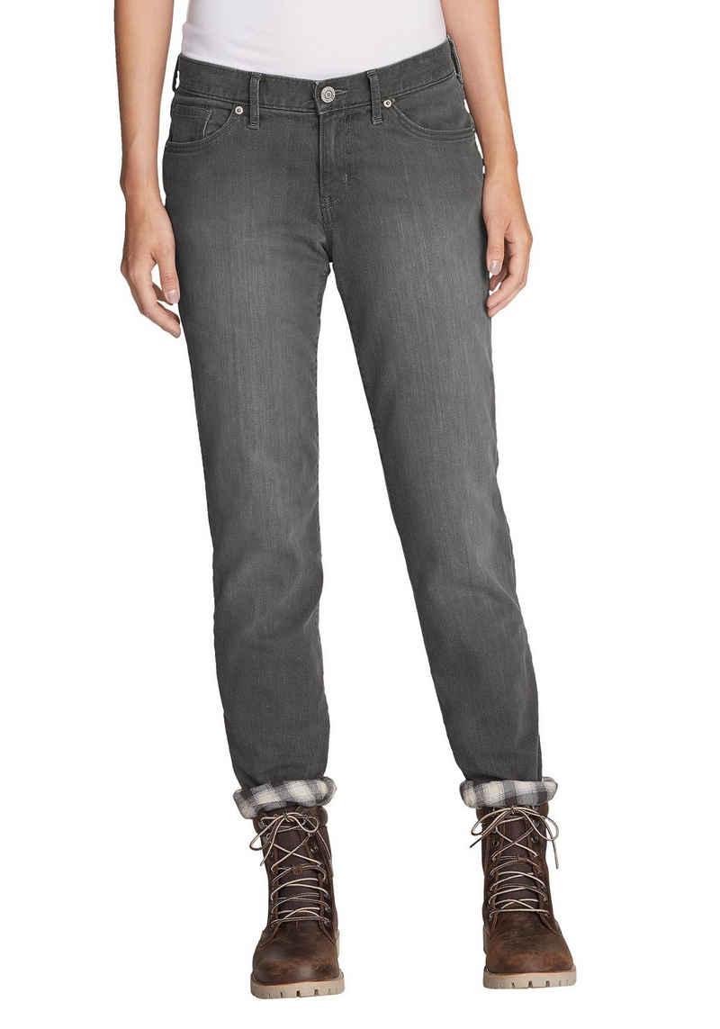 Eddie Bauer 5-Pocket-Jeans Boyfriend mit Flanellfutter