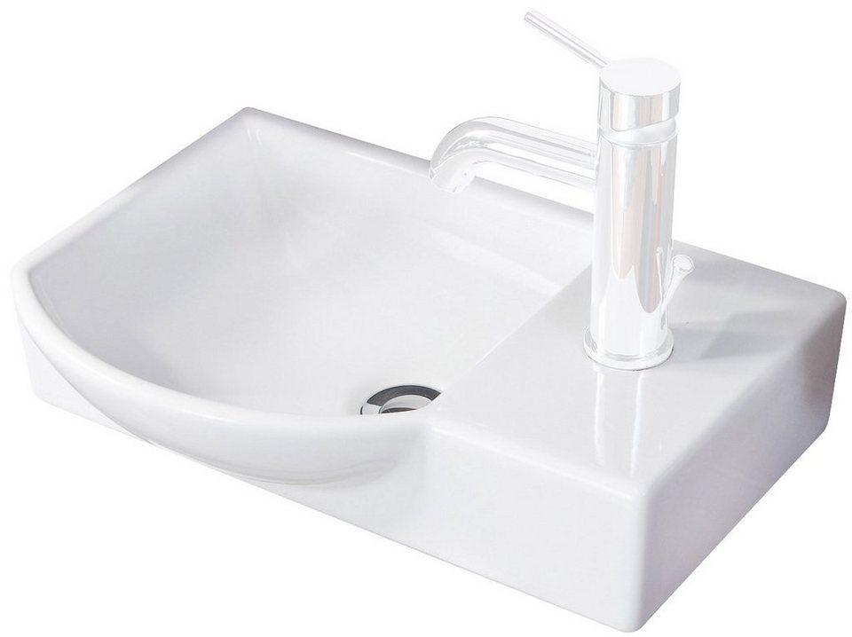 FACKELMANN Waschbecken »Gäste-WC«, Breite 45 cm, für Gäste-WC, Keramik,  Hochwertige Verarbeitung online kaufen   OTTO