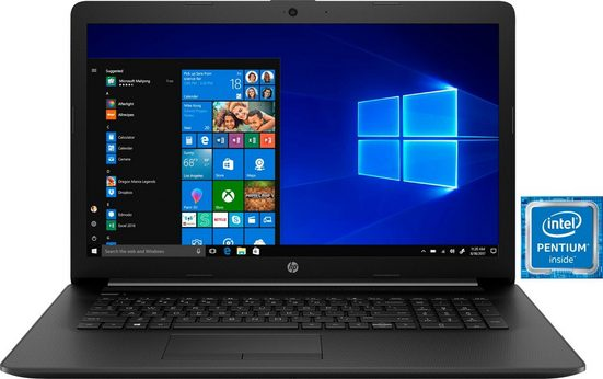 HP 17-by0222ng Notebook (43,9 cm/17,3 Zoll, Intel Pentium, 256 GB SSD, inkl. Office-Anwendersoftware Microsoft 365 Single im Wert von 69 Euro)