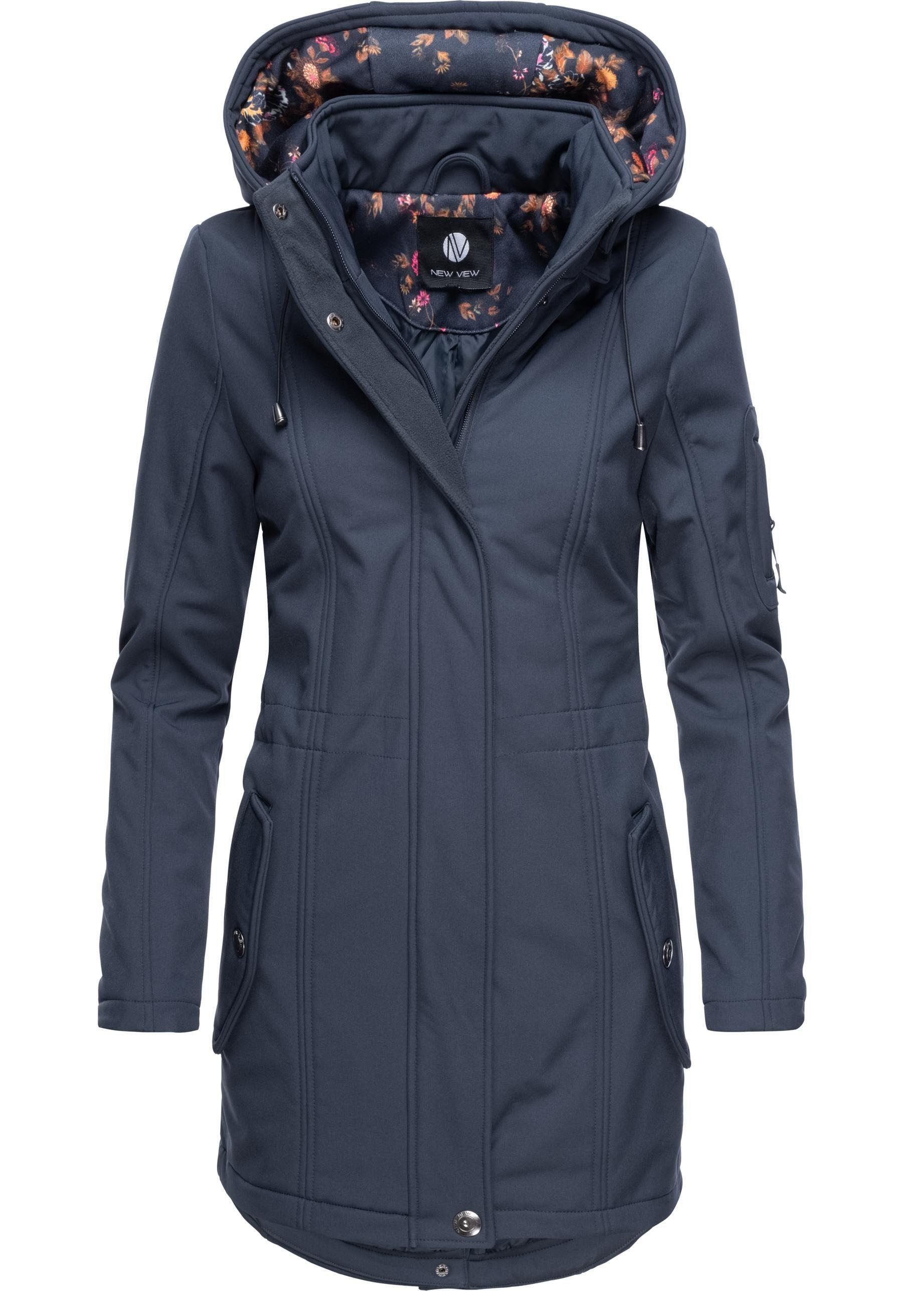 S-XL AKTION Elegante Damen Qualitäts Softshell Jacke schwarz Gr