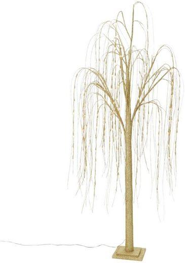 LED Baum, 192-flammig, LED-Hängeweide, Glitter, Höhe 200 cm