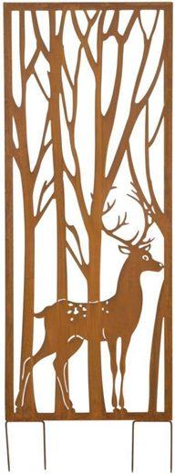 Gartenstecker »Hirsch«, Sichtschutz, Höhe 150 cm