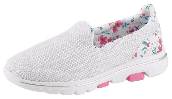 Skechers »Go Walk 5« Slip-On Sneaker mit Blumenprint
