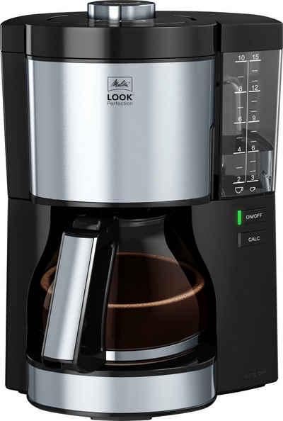 Melitta Filterkaffeemaschine Look® Perfection 1025-06, 1,25l Kaffeekanne, Papierfilter 1x4