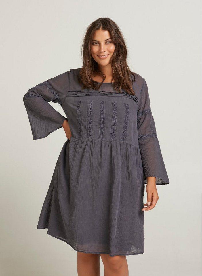 Festtagsmode - ZAY Sommerkleid Damen Große Größen Kleid Langarm Spitze Falten Abendkleid ›  - Onlineshop OTTO