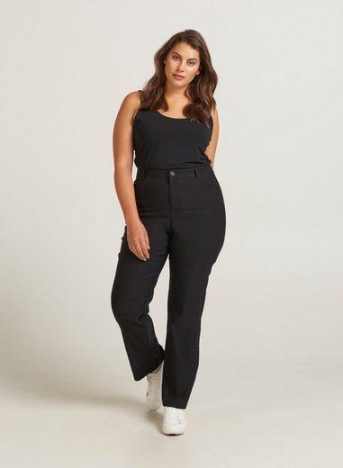 Zizzi Stoffhose Große Größen Damen Einfarbige Regular Fit-Hose mit Stretch