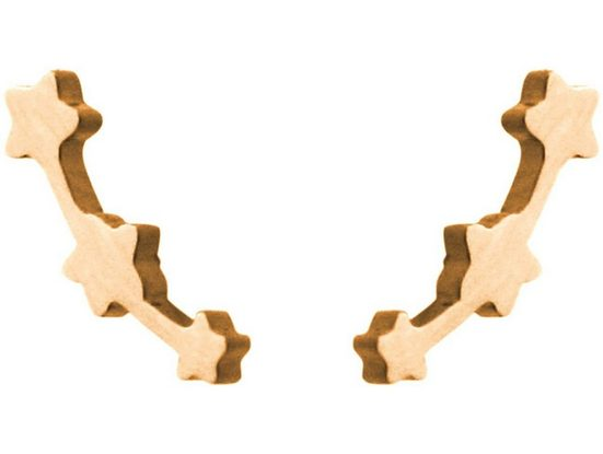 Gemshine Paar Ohrstecker »Sterne Konstellation Sternschnuppe« Made in Spain