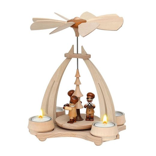 SIGRO Holz Teelicht-Tischpyramide »Bäckerfiguren«