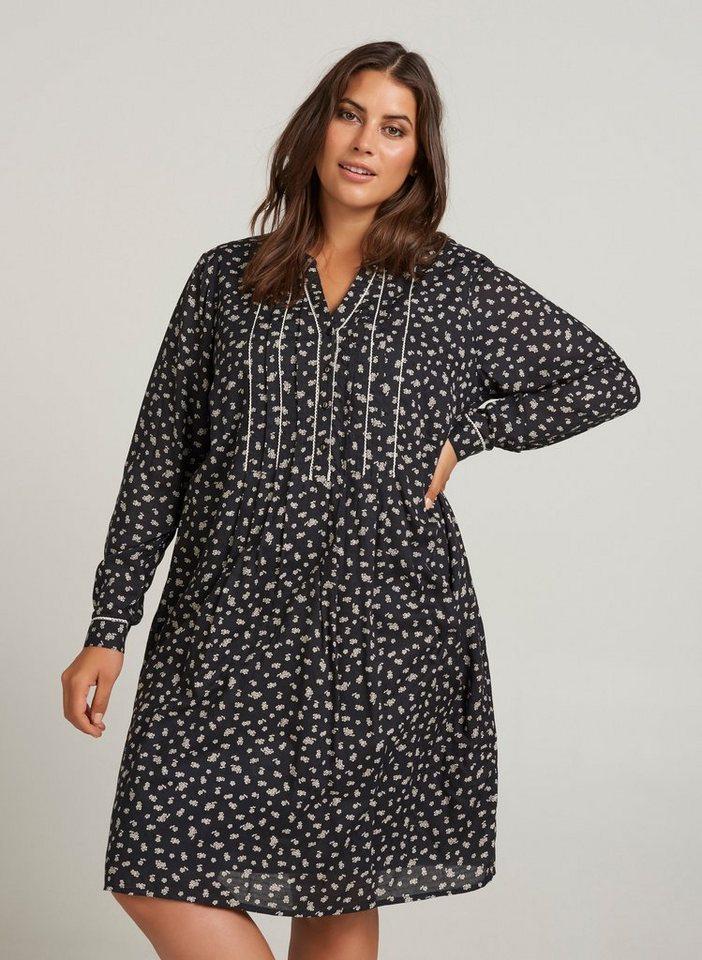 Festtagsmode - ZAY Shirtkleid Damen Große Größen Kleid Blumenmuster Langarm Spitzenkleid ›  - Onlineshop OTTO