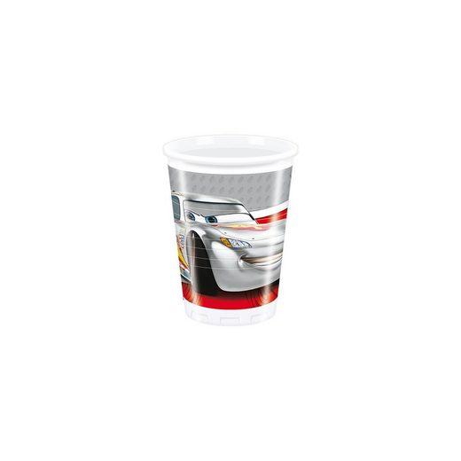 Procos Partybecher Cars Silver Edition 200 ml, 8 Stück