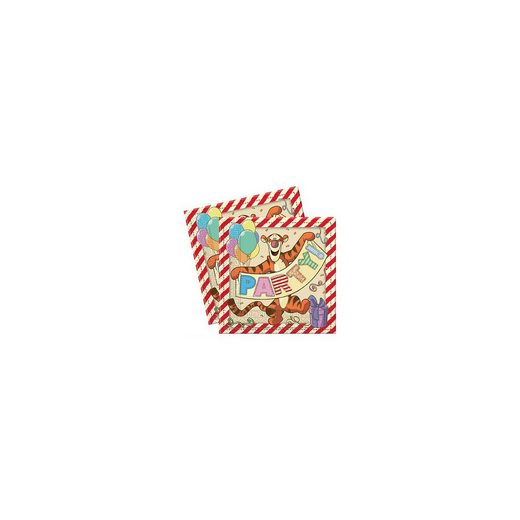 Procos Servietten zweilagig Winnie Alphabet 33 x 33 cm, 20 Stück