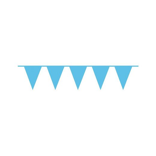 Amscan Wimpelkette plastik 10 m azurblau