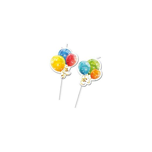 Procos Trinkhalme Sparkling Balloons, 6 Stück