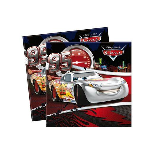 Procos Servietten zweilagig Cars Silver Edition 33 x 33 cm, 20 Stüc