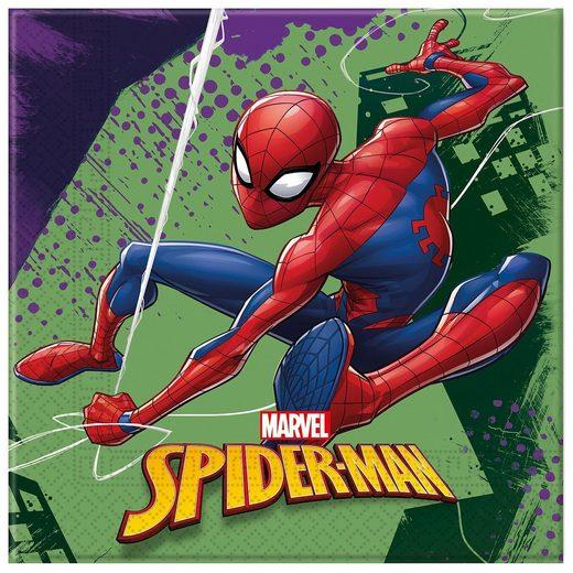 Procos Servietten zweilagig Spiderman Team Up 33 x 33 cm, 20 Stück