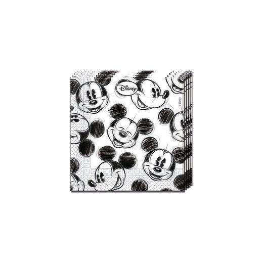 Procos Servietten zweilagig Mickey Faces 33 x 33 cm, 25 Stück