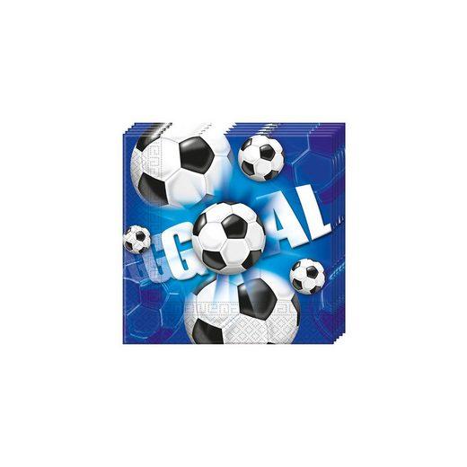 Procos Servietten zweilagig Fußball 33 x 33 cm, 20 Stück
