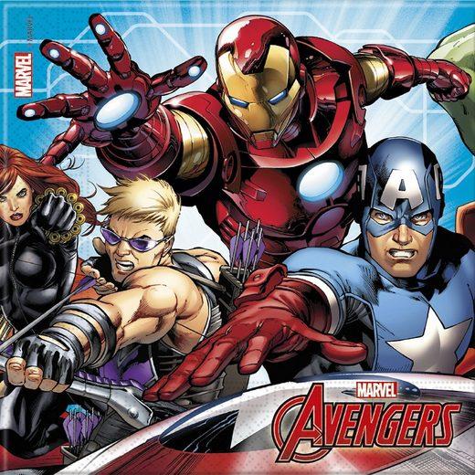 Procos Servietten zweilagig Mighty Avengers 33 x 33 cm, 20 Stück