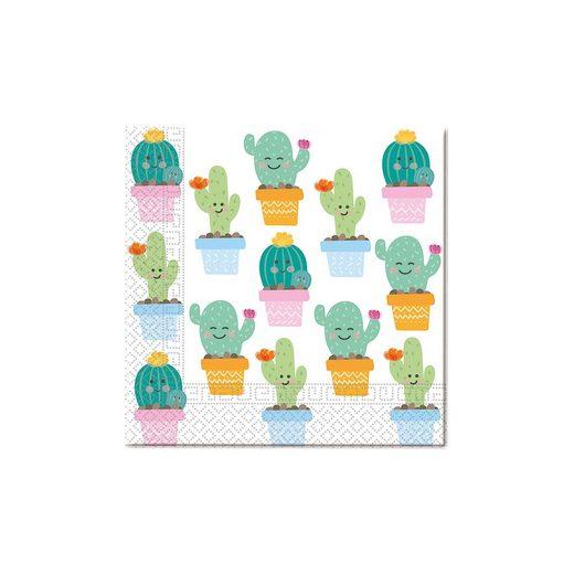Procos Servietten zweilagig Cactus 33 x 33 cm, 20 Stück