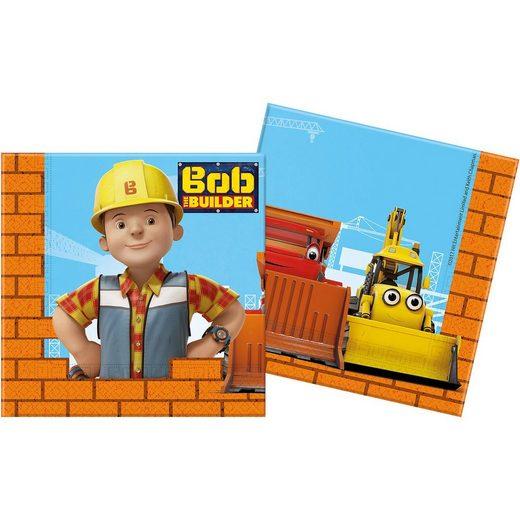 Procos Servietten zweilagig Bob the Builder 33 x 33 cm, 20 Stück
