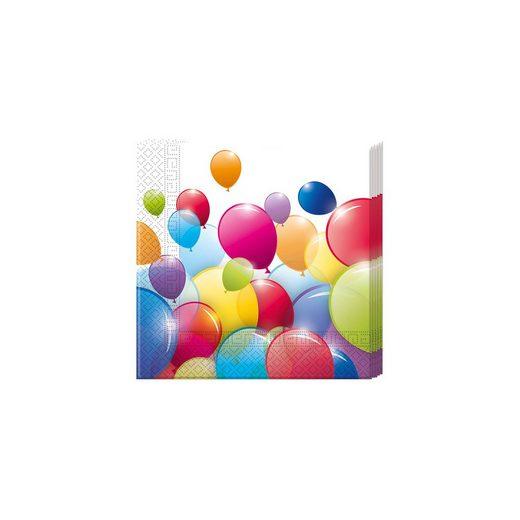 Procos Servietten zweilagig Flying Balloons 33 x 33 cm, 20 Stück