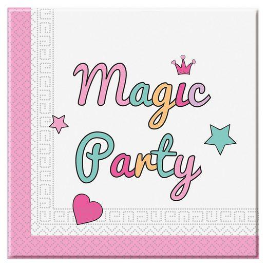 Procos Servietten zweilagig Magic Party 33 x 33 cm, 20 Stück