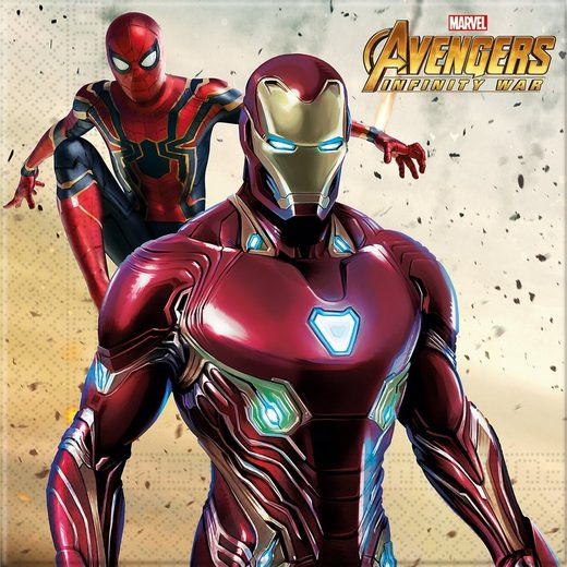 Procos Servietten zweilagig Avengers Infinity War 33 x 33 cm, 20 St