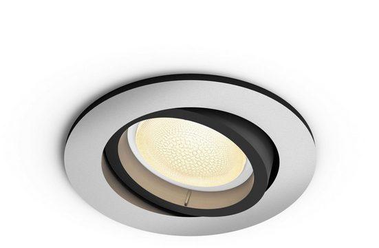 Philips Hue LED Einbaustrahler »White & Col. Amb. Centura rund aluminium 350lm«