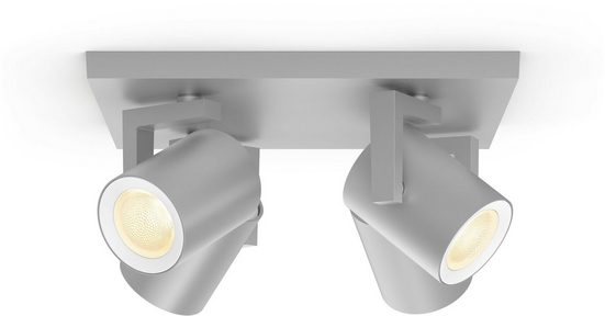 Philips Hue LED Deckenspot »White & Col. Amb. Argenta aluminium«, 4-flammig