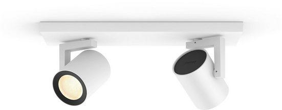 Philips Hue LED Deckenspot »Hue White & Col. Amb. Argenta weiß«, 2-flammig