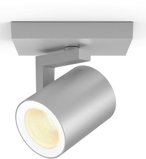Philips Hue LED Deckenspot »White & Col. Amb. Argenta aluminium 350lm«, 1-flammig