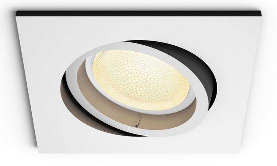 Philips Hue LED Einbaustrahler »White & Col. Amb. Centura eckig weiß 350lm«